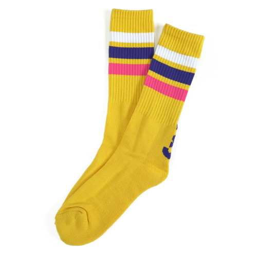 Fray Long Socks - Yellow