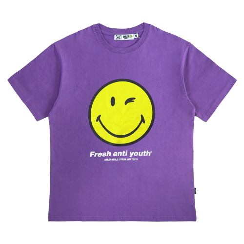 [FRAY x SMILEY] SMILEY LOGO T-SHIRTS - VIOLET
