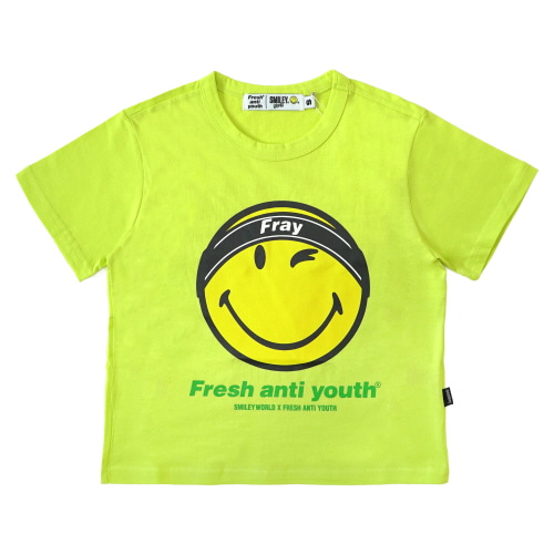 [FRAY x SMILEY] FRAY LOGO SMILE T-SHIRTS (FOR WOMEN) - NEON