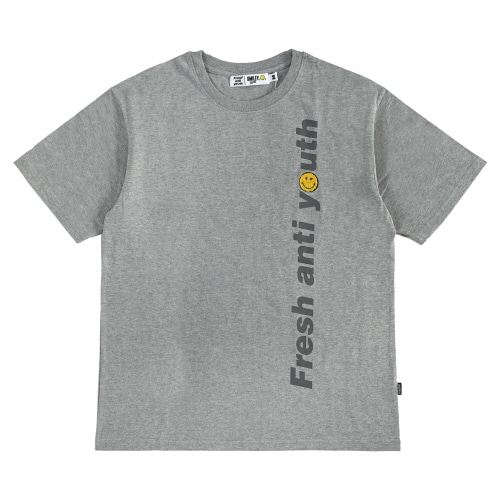 [FRAY x SMILEY] LOGO WAPPEN T-SHIRTS - GREY
