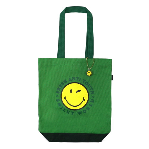 [FRAY x SMILEY] SMILEY LOGO TOTEBAG - GREEN
