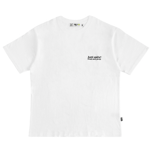 [FRAY x SMILEY] ANTI SMILE T-SHIRTS - WHITE