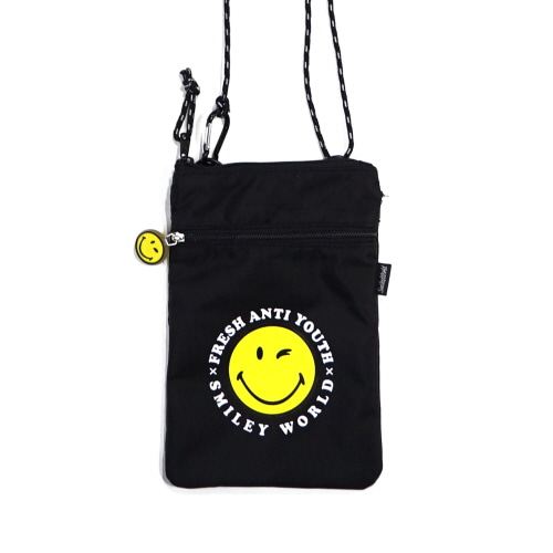 [FRAY x SMILEY] POUCH SHOLDER BAG - BLACK