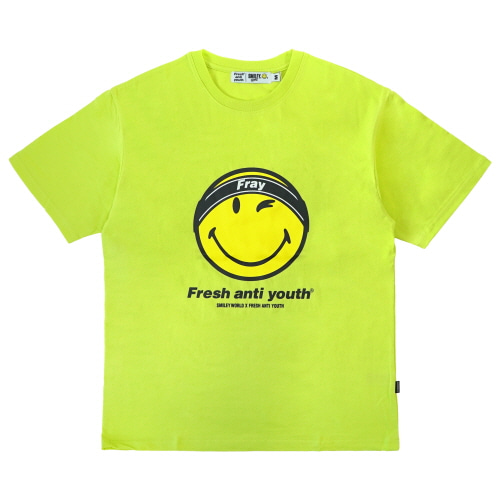 [FRAY x SMILEY] FRAY LOGO SMILE T-SHIRTS - NEON