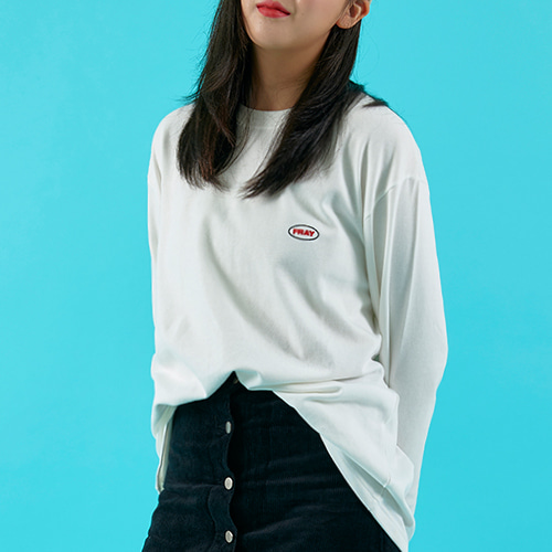 OVAL LOGO LONG SLEEVE - WHITE