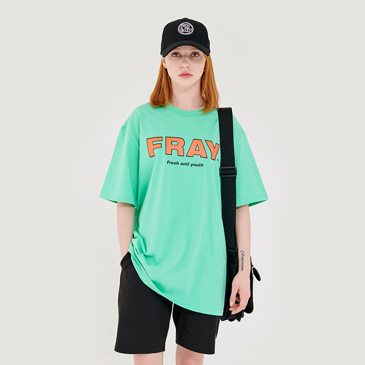 FRAY BIG LOGO T-SHIRTS - MINT