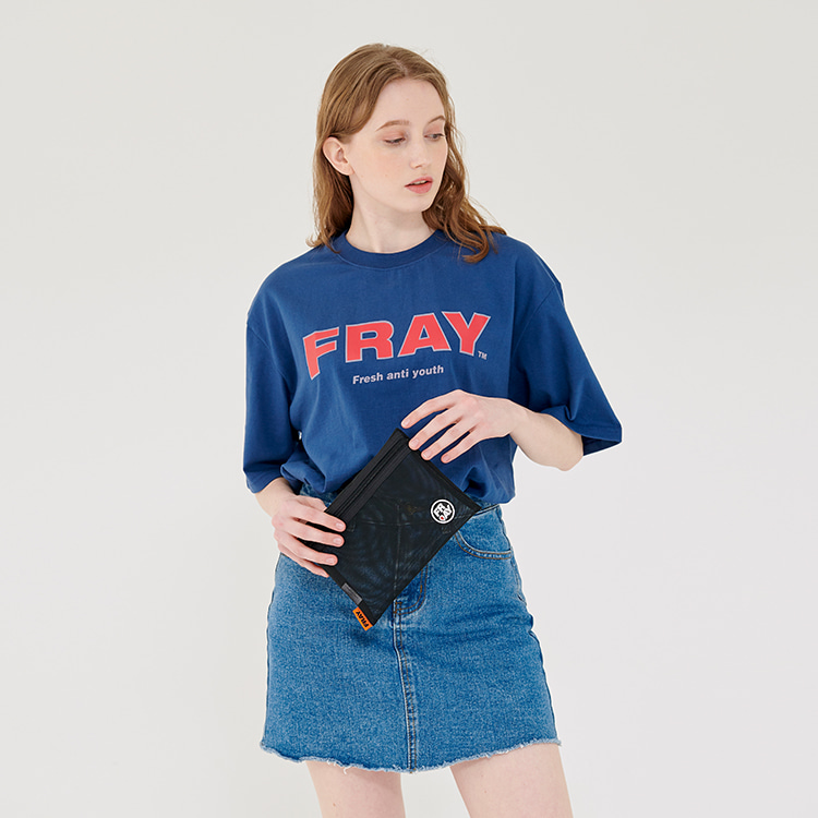 FRAY BIG LOGO T-SHIRTS - NAVY