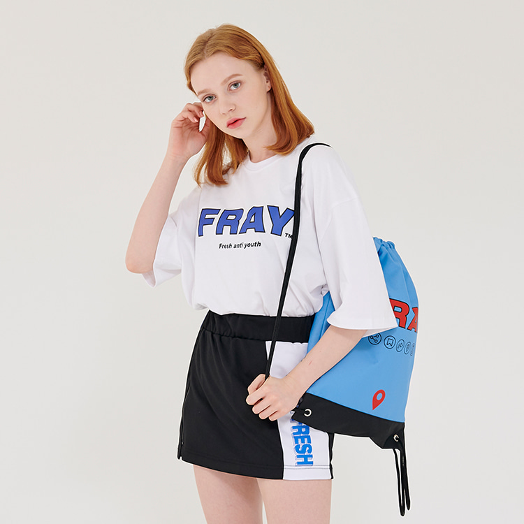 FRAY BIG LOGO T-SHIRTS - WHITE