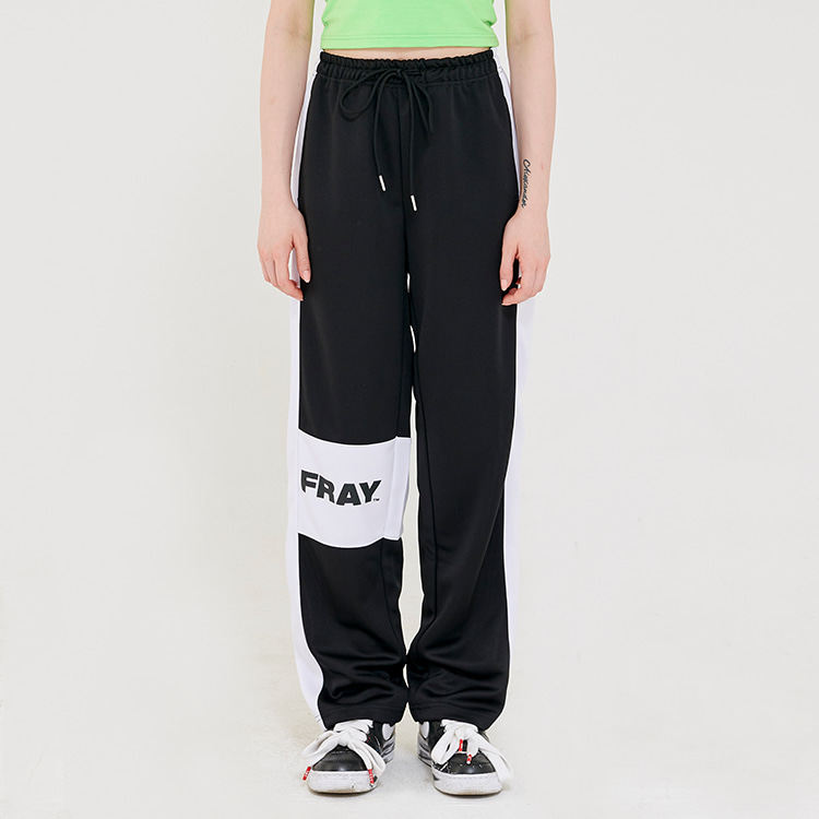 FRAY LINE PANTS - BLACK